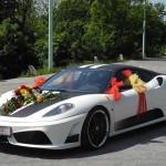 Samochód sportowy na wesele