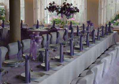Wystroj sali na przyjęcie weselne
